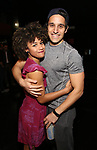 Ariana DeBose and Jared Zirilli during the Opening Night Actors' Equity Gypsy Robe Ceremony honoring  Afra Hines for 'Summer:The Donna Summer Musical at Lunt-Fontanne Theatre on April 23, 2018 in New York City.
