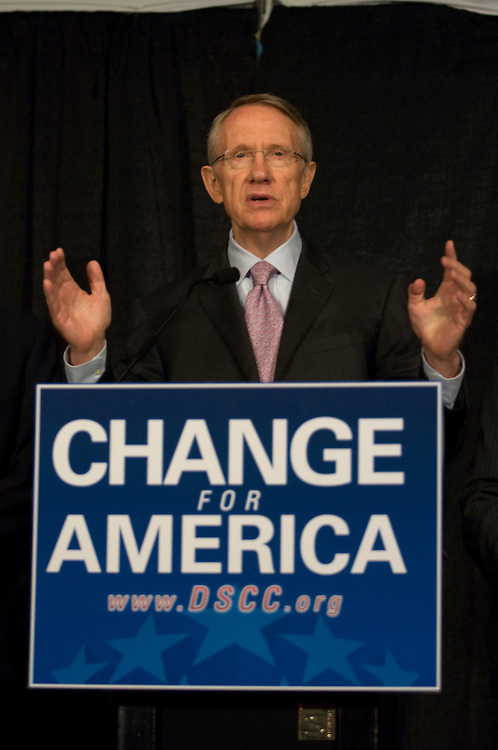DENVER, CO - Aug. 27: Senate Majority Leader Harry Reid, D-Nev., during a news conference on Senate races for the fall campaign. (photo by Scott J. Ferrell/Congressional Quarterly Inc.)