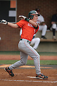Blake Tekotte of the Miami Hurricanes vs. the Virginia Cavaliers: March 24th, 2007 at Davenport Field in Charlottesville, VA.  Photo copyright Mike Janes Photography 2007.