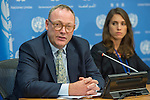 Press briefing by the UN Special Rapporteur on counter terrorism and human rights, Mr. Ben Emmerson, who will speak to the press after presenting a new report examining the impact of counter-terrorism measures on the human rights of migrants and refugees to the UN General Assembly