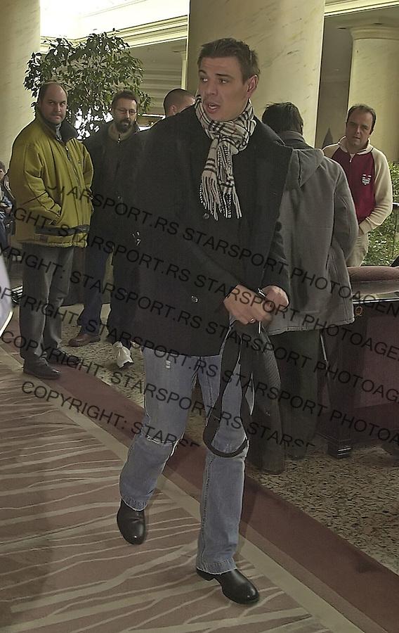 SPORT FUDBAL REPREZENTACIJA HAJAT OKUPLJANJE  Savo Milosevic 7.2.2005. foto: Pedja Milosavljevic