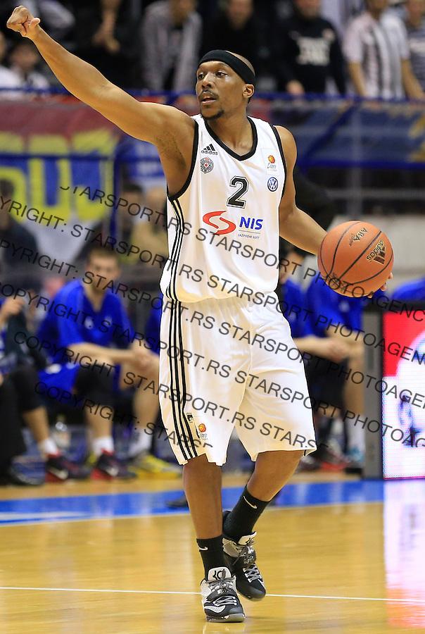 Kosarka ABA League season 2014-2015<br /> Partizan v Zadar<br /> Josh Akognon<br /> Beograd, 15.03.2015.<br /> foto: Srdjan Stevanovic/Starsportphoto&copy;