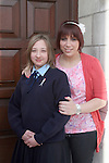 Katie Thompson with her sponsor Leanne at the Ballymakenny NS Confirmation...Photo NEWSFILE/Jenny Matthews.(Photo credit should read Jenny Matthews/NEWSFILE)....This Picture has been sent you under the condtions enclosed by:.Newsfile Ltd..The Studio,.Millmount Abbey,.Drogheda,.Co Meath..Ireland..Tel: +353(0)41-9871240.Fax: +353(0)41-9871260.GSM: +353(0)86-2500958.email: pictures@newsfile.ie.www.newsfile.ie.FTP: 193.120.102.198.