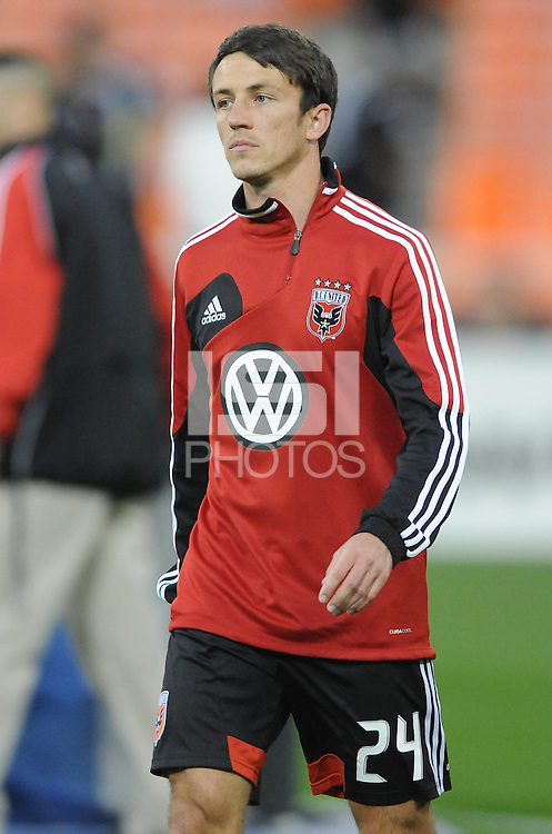 D.C. United midfielder Lewis Neal (24) D.C. United tied The Montreal Impact 1-1, at RFK Stadium, Wednesday April 18 , 2012.