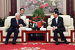 Palestinian President Mahmoud Abbas meets with Chinese Vice President Li Yuanchao, in Beijing, China, on July 19, 2017. Abbas is on an official visit to China from July 17-20. Photo by Thaer Ganaim