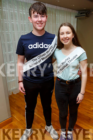Ella Smith and Jack McElligott, members of the Tralee Musical Society at their 'Strictly Young Dancing' fundraiser launch in the Ballyroe Heights Hotel on Saturday which is being held on February 9th in Ballyroe Hotel.