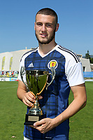 Scotland's Alex Iacovitti proudly holds the 3rd placed trophy during Czech Republic Under-20 vs Scotland Under-20, Toulon Tournament Football at Stade de Lattre-de-Tassigny on 10th June 2017