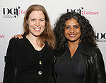 Deborah Yarchun and Riti Sachdeva attend the reception for the 2018 Presentation of New Works by the DGF Fellows on October 15, 2018 at the Playwrights Horizons Theatre in New York City.