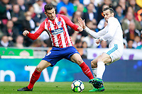 Real Madrid's Gareth Bale (r) and Atletico de Madrid's Lucas Hernandez during La Liga match. April 8,2018. (ALTERPHOTOS/Acero) /NortePhoto NORTEPHOTOMEXICO