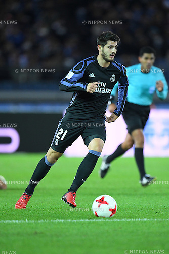 Alvaro Morata (Real), <br /> DECEMBER 15, 2016 - Football / Soccer : <br /> FIFA Club World Cup Japan 2016 Semi Final match between <br /> Club America 0-2 Real Madrid <br /> at Yokohama International Stadium, Kanagawa, Japan. <br /> (Photo by AFLO SPORT)
