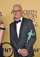 Michael Keaton at the 2015 Screen Actors Guild  Awards at the Shrine Auditorium.<br /> January 25, 2015  Los Angeles, CA<br /> Picture: Paul Smith / Featureflash