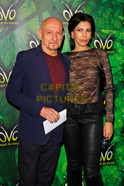 LONDON, ENGLAND - JANUARY 10:  Sir Ben Kingsley and Daniela Lavender attending 'Cirque du Soleil - OVO' at the Royal Albert Hall on January 10, 2018 in London, England.<br /> CAP/MAR<br /> &copy;MAR/Capital Pictures