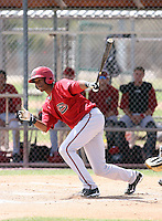 Keon Broxton, Arizona Diamondbacks 2010 minor league spring training..Photo by:  Bill Mitchell/Four Seam Images.