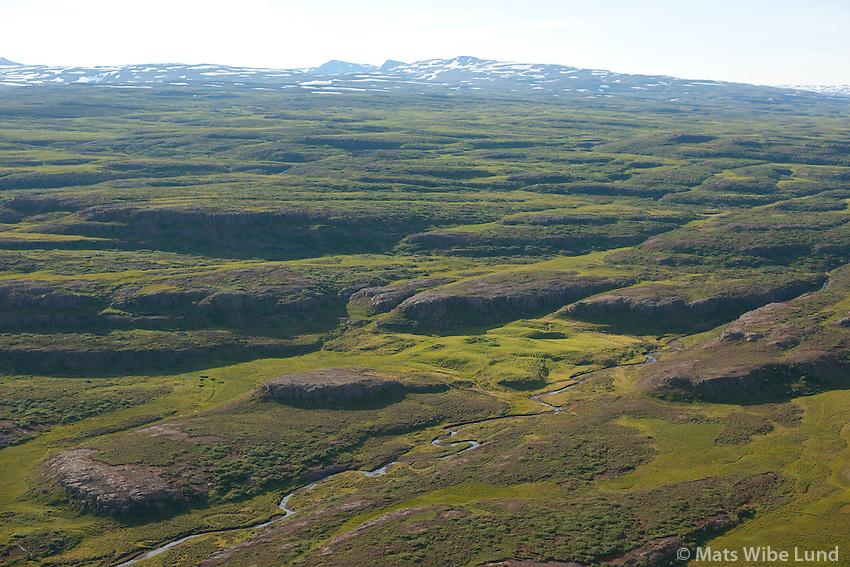 Hrjótur séð til suðausturs, Fljótsdalshérað áður Hjaltastaðahreppur. /  Hrjotur viewing southeast, Fljotsdalsherad former Hjaltastadahreppur.