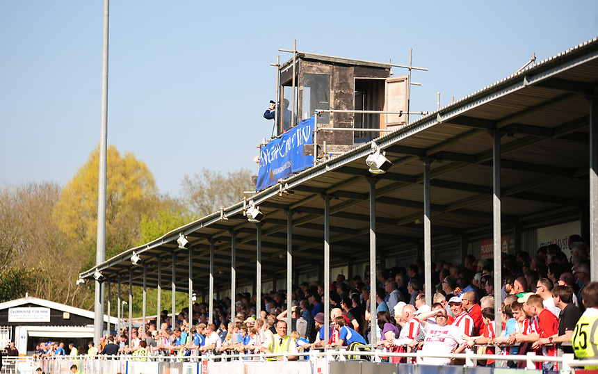 A general view of Ten Acres, home of Eastleigh FC<br /> <br /> Photographer Andrew Vaughan/CameraSport<br /> <br /> Vanarama National League - Eastleigh v Lincoln City - Saturday 8th April 2017 - Silverlake Stadium - Eastleigh<br /> <br /> World Copyright &copy; 2017 CameraSport. All rights reserved. 43 Linden Ave. Countesthorpe. Leicester. England. LE8 5PG - Tel: +44 (0) 116 277 4147 - admin@camerasport.com - www.camerasport.com