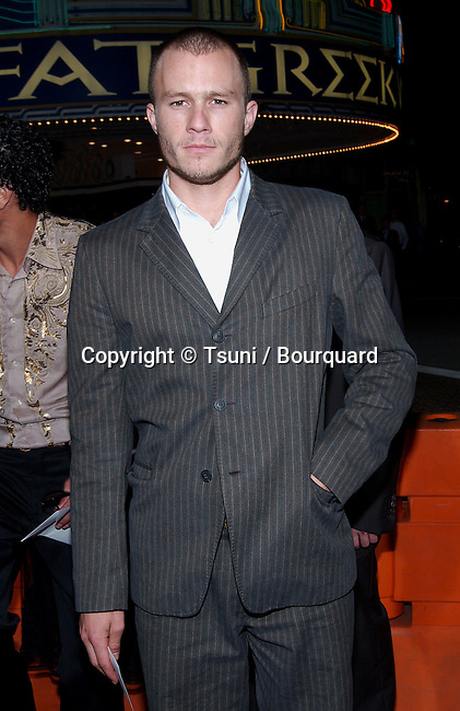 Heath Ledger arriving at the Four Feathers premiere at the Westwood Village Theatre in Los Angeles. September 17, 2002.           -            LedgerHeath01A.jpg