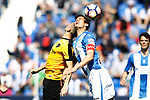 CD Leganes' Martin Mantovani (r) and Malaga CF's Charles Dias during La Liga match. February 25,2017. (ALTERPHOTOS/Acero)