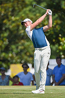 Danny Willett (GBR) watches his tee shot on 8 during round 4 of the WGC FedEx St. Jude Invitational, TPC Southwind, Memphis, Tennessee, USA. 7/28/2019.<br /> Picture Ken Murray / Golffile.ie<br /> <br /> All photo usage must carry mandatory copyright credit (© Golffile | Ken Murray)