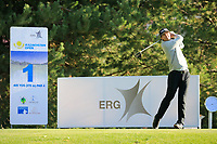 Nico Geyger (CHI) during the first round of the Kazakhstan Open presented by ERG played at Zhailjau Golf Resort, Almaty, Kazakhstan. 13/09/2018<br /> Picture: Golffile | Phil Inglis<br /> <br /> All photo usage must carry mandatory copyright credit (&copy; Golffile | Phil Inglis)