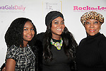 Her mom and daughter with Ashunta Sheriff received award for celebrity makeup artist at Color of Beauty Awards hosted by VH1's Gossip Table's Delaina Dixon and Maureen Tokeson-Martin on February 28, 2015 with red carpet, awards and cocktail reception at Ana Tzarev Gallery, New York City, New York.  (Photo by Sue Coflin/Max Photos)