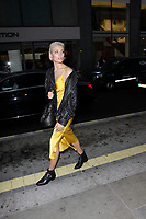 LONDON, ENGLAND - MAY 31 :  Wallis Day arrives at the Kurt Geiger London Boutique launch at Selfridges on May 31, 2018 in London, England.<br /> CAP/AH<br /> &copy;Adam Houghton/Capital Pictures