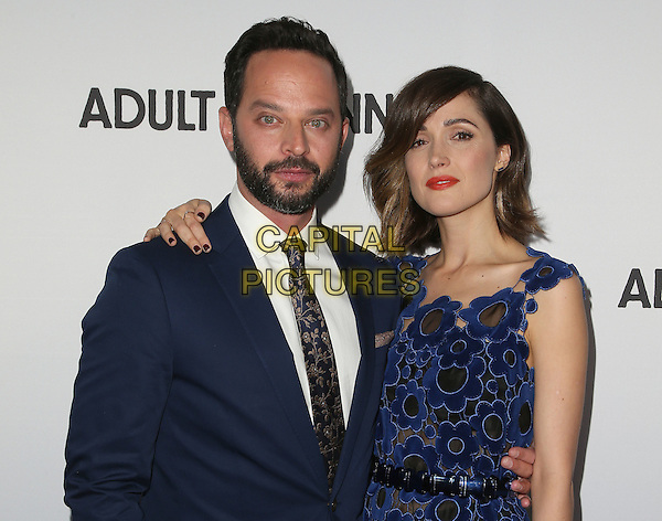 15 April 2015 - Hollywood, California - Nick Kroll, Rose Byrne. &quot;Adult Beginners&quot; Los Angeles Premiere held at Arclight Cinemas. <br /> CAP/ADM/FS<br /> &copy;FS/ADM/Capital Pictures