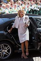 Mariage du Prince Ernst junior de Hanovre et de Ekaterina Malysheva &agrave; l'&eacute;glise Markkirche &agrave; Hanovre.<br /> Allemagne, Hanovre, 8 juillet 2017.<br /> Wedding of Prince Ernst Junior of Hanover and Ekaterina Malysheva at the Markkirche church in Hanover.<br /> Germany, Hanover, 8 july 2017<br /> Pic :  Chantal Hochuli, the mother of  Prince Ernst Junior of Hanover