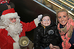 Joe McDonnell meets Santa as he arrives at Scotch Hall...(Photo credit should read Jenny Matthews www.newsfile.ie)....This Picture has been sent you under the conditions enclosed by:.Newsfile Ltd..The Studio,.Millmount Abbey,.Drogheda,.Co Meath..Ireland..Tel: +353(0)41-9871240.Fax: +353(0)41-9871260.GSM: +353(0)86-2500958.email: pictures@newsfile.ie.www.newsfile.ie.
