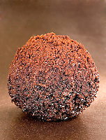 Chili Chocolate Truffles on Bronze