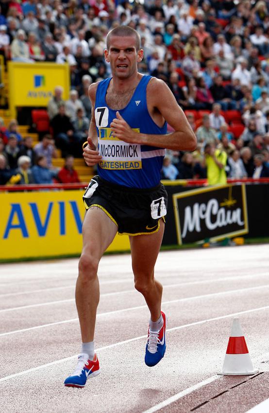 Photo: Richard Lane/Richard Lane Photography..Aviva British Grand Prix. 31/08/2009. Great Britain's Nick McCormick the men's 3000m.