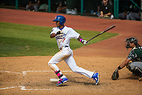 Byron Buxton (7) of the Chattanooga Lookouts bats during a game between the Jackson Generals and Chattanooga Lookouts at AT&T Field on May 10, 2015 in Chattanooga, Tennessee. (Brace Hemmelgarn/Four Seam Images)