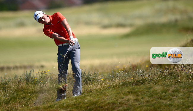 Thomas Thurloway during the Second Round of Qualifying for the Boys Amateur Championship at Southport &amp; Ainsdale Golf Club, Southport, England. Picture: Golffile   Richard Martin-Roberts<br /> All photo usage must carry mandatory copyright credit (&copy; Golffile   Richard Martin-Roberts)