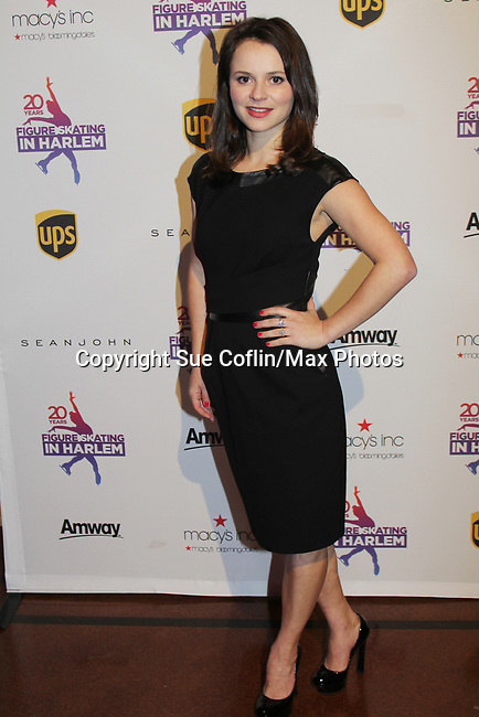 Sasha Cohen - Figure Skating in Harlem celebrates 20 years - Champions in Life benefit Gala on May 2, 2017 honoring Sasha Cohen and award is presented to her by Evan Lysacek.  (Photo by Sue Coflin/Max Photos)