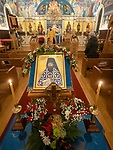 Vespers service to begin the slava of St. Sebastian of Jackson, St. Sava Serbian Orthodox Church, California.