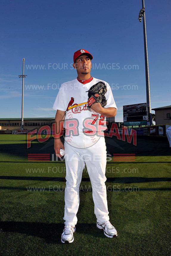 Mar 01, 2010; Jupiter, FL, USA; St. Louis Cardinals pitcher Fernando Salas (72) during  photoday at Roger Dean Stadium. Mandatory Credit: Tomasso De Rosa/ Four Seam Images