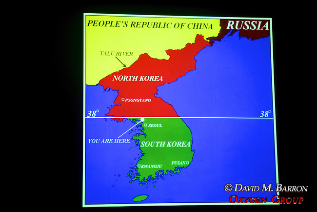 North-South Korea Map, DMZ Tour