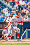 25 August 2013: Washington Nationals outfielder Bryce Harper in action against the Kansas City Royals at Kauffman Stadium in Kansas City, MO. The Royals defeated the Nationals 6-4, to take the final game of their 3-game inter-league series. Mandatory Credit: Ed Wolfstein Photo *** RAW (NEF) Image File Available ***