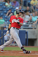 Frisco RoughRiders third baseman Joey Gallo (24) at bat during the Texas League game against the Tulsa Drillersat ONEOK field on August 15, 2014 in Tulsa, Oklahoma  The RoughRiders defeated the Drillers 8-2.  (William Purnell/Four Seam Images)