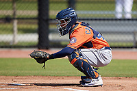 Houston Astros Carlos Canelon (48) during a Minor League Spring Training Intrasquad game on March 28, 2018 at FITTEAM Ballpark of the Palm Beaches in West Palm Beach, Florida.  (Mike Janes/Four Seam Images)