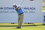 Stephen Dodd (WAL) tees off on the 17th tee  during Day 3 Saturday of the Open de Andalucia de Golf at Parador Golf Club Malaga 26th March 2011. (Photo Eoin Clarke/Golffile 2011)