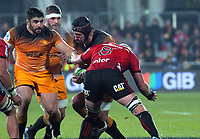 Jaguares' Tomas Lavanini in action during the 2019 Super Rugby final between the Crusaders and Jaguares at Orangetheory Stadium in Christchurch, New Zealand on Saturday, 6 July 2019. Photo: Dave Lintott / lintottphoto.co.nz
