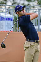 Cameron Tringale (USA) watches his tee shot on 17 during round 2 of the Valero Texas Open, AT&amp;T Oaks Course, TPC San Antonio, San Antonio, Texas, USA. 4/21/2017.<br /> Picture: Golffile | Ken Murray<br /> <br /> <br /> All photo usage must carry mandatory copyright credit (&copy; Golffile | Ken Murray)