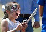 Nevada Attorney General Adam Laxalt's daughter Sophia, 5, plays at the 4th annual Basque Fry in Gardnerville, Nev., on Saturday, Aug. 25, 2018. Hosted by the Morning in Nevada PAC, the event is a fundraiser for conservative candidates and issues and includes traditional Basque dishes like deep-fried lamb testicles.(Cathleen Allison/Las Vegas Review Journal)