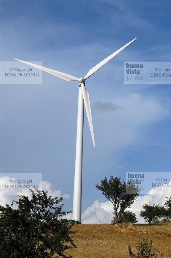 - eolic power station of Albanella (Salerno)....- centrale eolica di Albanella (Salerno)