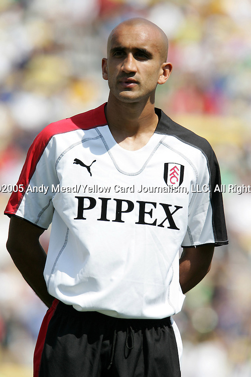 30 July 2005: Zesh Rehman. Major League Soccer's All-Stars defeated Fulham FC of the English Premier League 4-1 at Columbus Crew Stadium in Columbus, Ohio in the 2005 Sierra Mist MLS All-Star Game.
