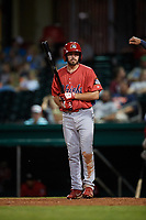 Peoria Chiefs center fielder Justin Toerner (39) at bat during a game against the Bowling Green Hot Rods on September 15, 2018 at Bowling Green Ballpark in Bowling Green, Kentucky.  Bowling Green defeated Peoria 6-1.  (Mike Janes/Four Seam Images)