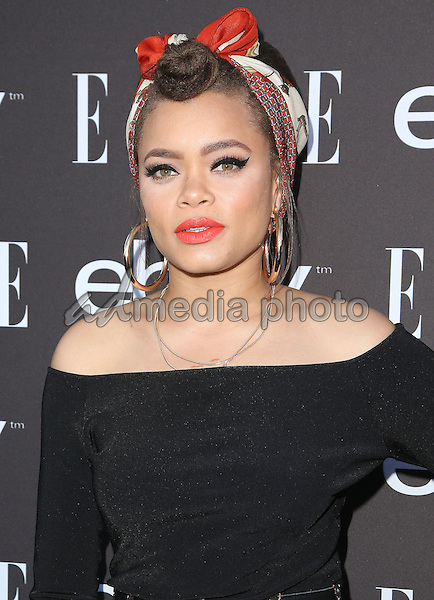 20 May 2015 - Hollywood, California - Andra Day. 6th Annual ELLE Women In Music Celebration presented by eBay held at Boulevard 3. Photo Credit: F. Sadou/AdMedia