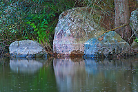 Rocks reflected in Dryberry Creek<br />