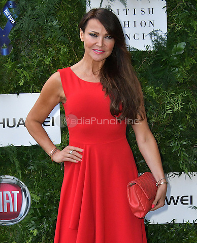 Lizzie Cundy at Charity ball in aid of One For The Boys, a charity raising awareness of male forms of cancer, encouraging men to get checked regularly. Evening celebrates the launch of the 2016 campaign film The Difference, at Victoria and Albert Museum, London, England June 12, 2016.<br /> CAP/JOR<br /> &copy;JOR/Capital Pictures /MediaPunch ***NORTH AND SOUTH AMERICAS ONLY***
