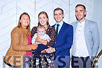 Little Greg Cahill celebrated his christening with his parents Brendan and Claire and god parents Carol O'Donoghue and Aidan Cahill in the Plaza Hotel on Saturday
